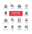 elections - flat design style icons set vector image
