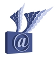 Email symbol with wings vector image