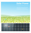 energy concept background with solar panel 3 vector image vector image