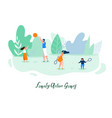 family active outdoor games flat concept vector image