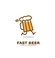 fast beer logo vector image
