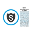 Financial Shield Rounded Symbol With 1000 Icons vector image vector image