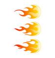 fireballs set of fire design elements vector image vector image
