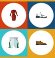 Flat icon clothes set of clothes sneakers male