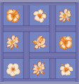 flowers seamless pattern tropical vector image vector image