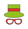 funny hat party isolated icon vector image vector image
