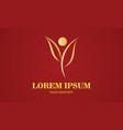 gold leaf beauty spa logo vector image vector image