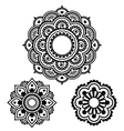 Indian Henna tattoo round design - Mehndi pattern vector image vector image