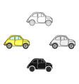 italian retro car from italy icon in cartoonblack vector image