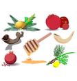 jewish holidays symbols pack vector image vector image