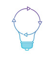light bulb with reload icon in color gradient vector image vector image