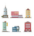 modern buildings in different architectural styles vector image vector image