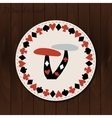 Mushrooms - drink coaster from Wonderland on vector image vector image