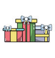 nice presents gifts to merry christmas celebration vector image vector image