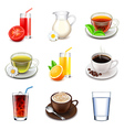 Non-alcoholic drinks icons set vector image vector image