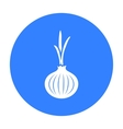 Onion icon black Singe vegetables icon from the vector image
