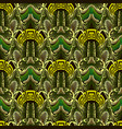 ornate green 3d abstract greek seamless pattern vector image vector image