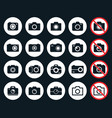 photo camera icons vector image
