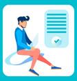 programmer web designer flat vector image