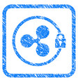 ripple masternode framed stamp vector image vector image