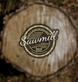 Sawmill badges logos and labels for any use vector image
