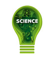 science concept in layered vector image vector image