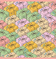seamless pattern with parcel boxes vector image