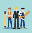 set different career profession people vector image