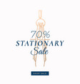 seventy percent stationary autumn sale abstract vector image vector image