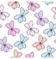simple floral pattern for seamless background vector image