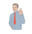 smiling businessman vector image vector image