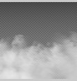 smoke effect realistic white mist rising steam vector image