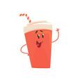 soda drink cartoon character element for menu of vector image vector image