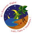 Summer Night vector image