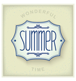 Summer vintage plate vector image vector image