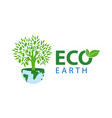 symbol of ecology with the vector image vector image