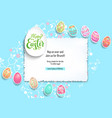 template poster eggs vector image vector image
