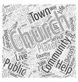 The Church as Good Neighbor Word Cloud Concept vector image vector image