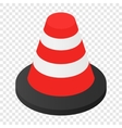 Traffic cone isometric 3d icon vector image vector image