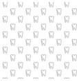 unique tooth seamless pattern with various icons vector image vector image
