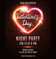 valentines day party poster template design vector image vector image