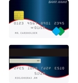 Variant of credit card vector image