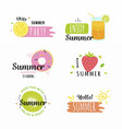 variety summer stickers set vector image vector image
