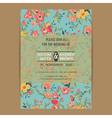 Wedding invitation card or announcement vector image vector image