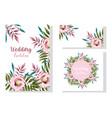 wedding ornament floral bloom decorative greeting vector image vector image