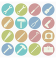 white icons tool vector image vector image