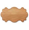 Wooden signboard decorative banner vector image