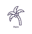 icon of palm on a white background vector image