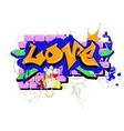 Love Graffiti vector image
