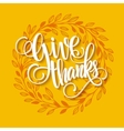 Thanksgiving card template Watercolor painted vector image